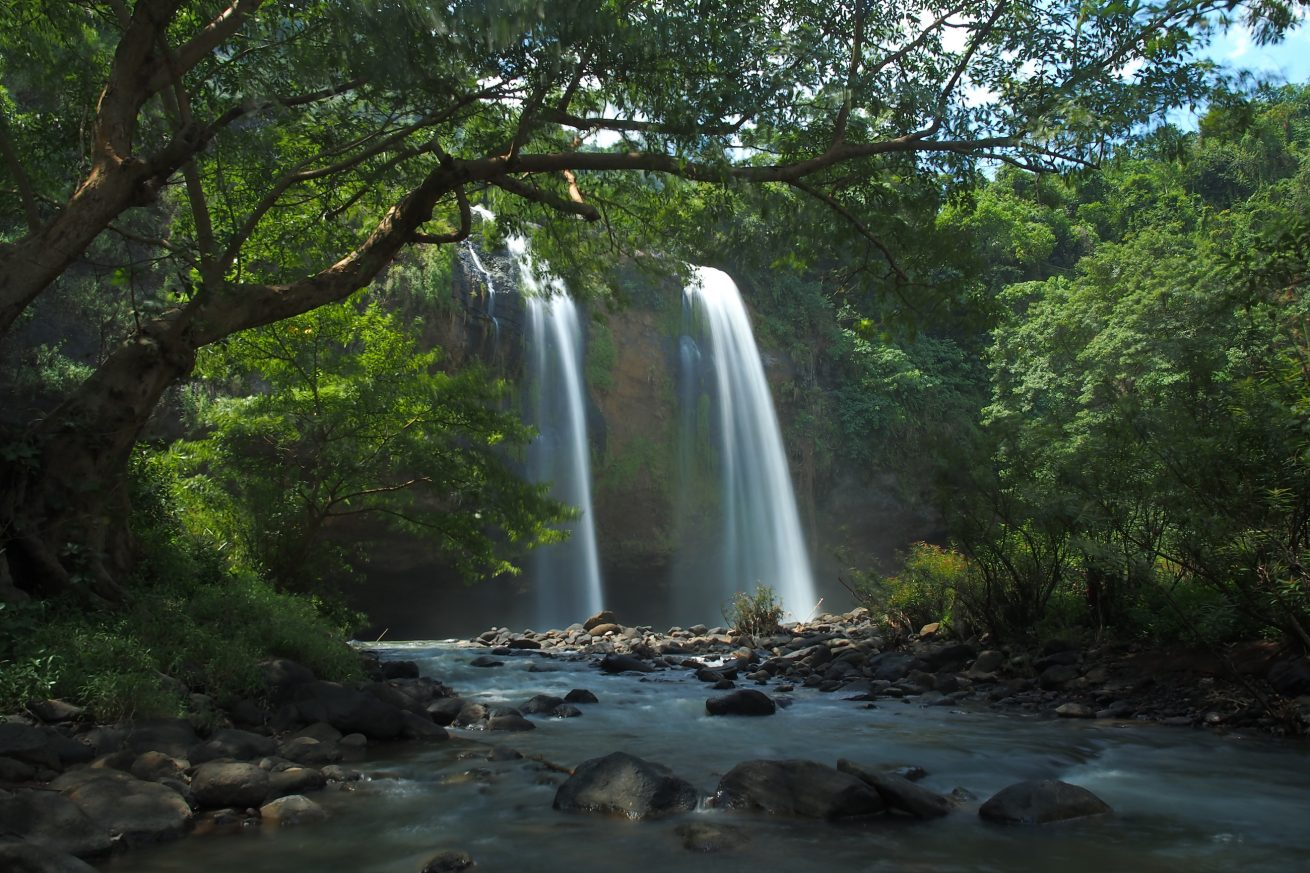 Geopark Ciletuh salah satunya di air terjun Sodong