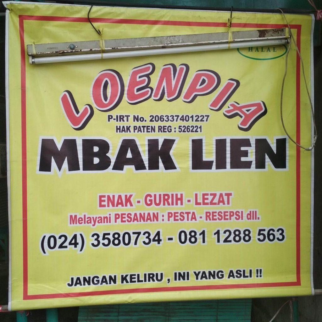 Loenpia Semarang Kedai Mbak Lien di Gg. Grejen