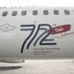 garuda Indonesia luncurkan Cinta Indonesia dalam rangka ulang tahun ke 72.