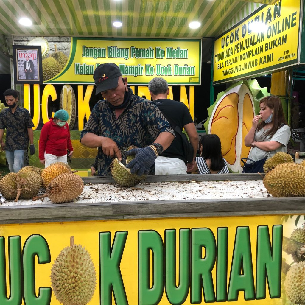 Ucok Durian Medan menjadi salah satu pilihan wisata di kota Medan.