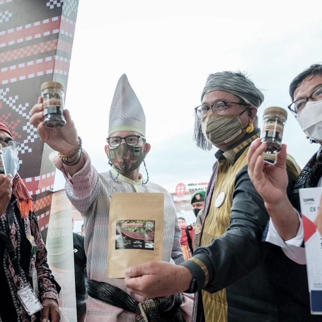 Presiden Jokowi mengatakan JP Hub sebagai platform daring yang mampu menyukseskan Gerakan Beli Kreatif Danau Toba