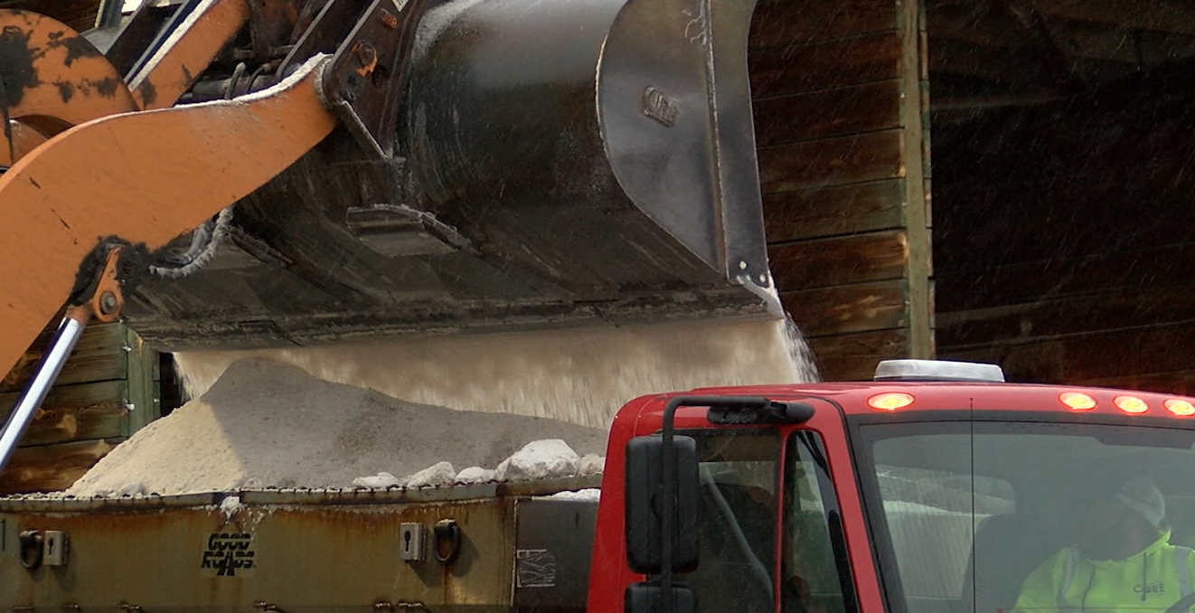 Jefferson City public works crews refill on salt.