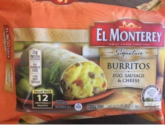Breakfast burritos recalled