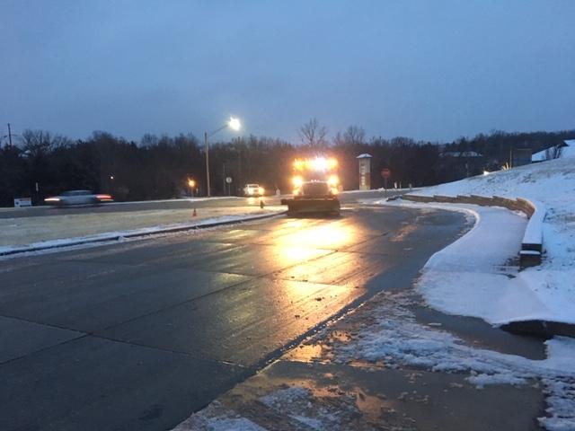 Jefferson City roads in snow