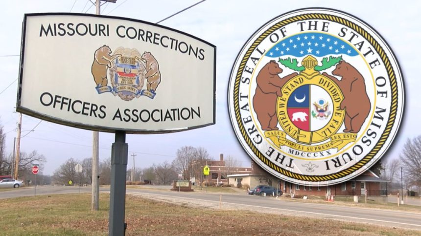 Missouri Corrections Officers Association and State of Missouri seals