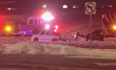 Authorities respond to a crash on Conley Rd. in Columbia Saturday night.