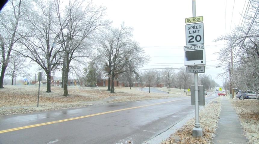 Fairview Road ice