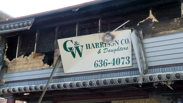 Business destroyed by fire in Jefferson City.