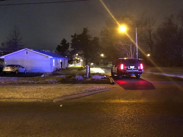 N. Garth Ave police scene