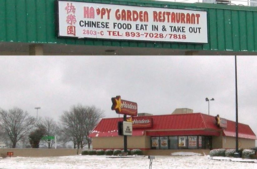 Hardee's and Happy Garden in Jefferson City