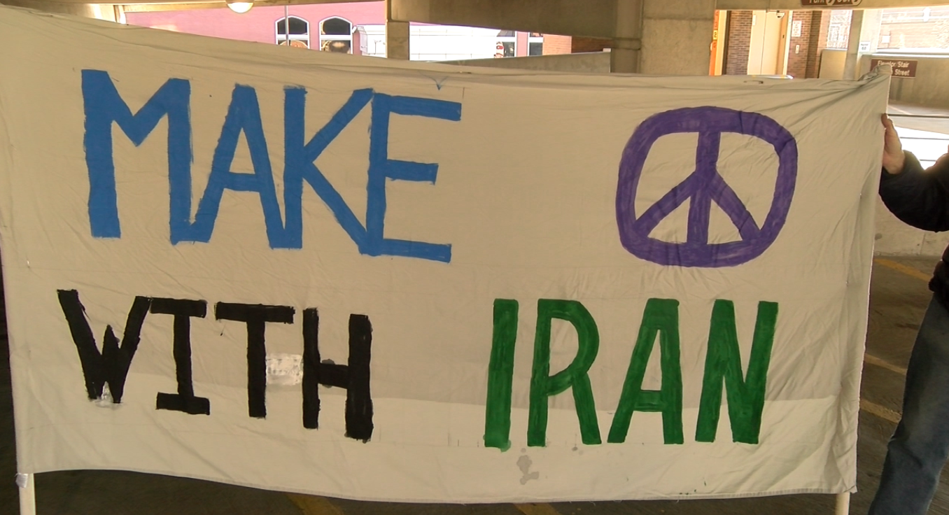Iran Airstrike Protest