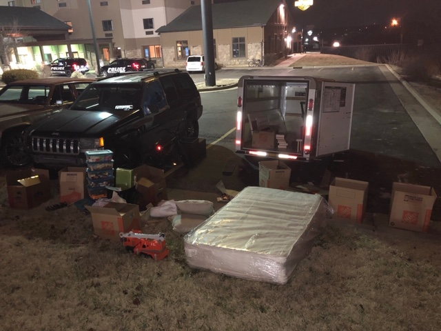Columbia police find trailer with some family belongings stolen.
