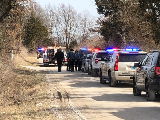 Authorities apprehended three people after a multi-county police chase ended near Ashland.
