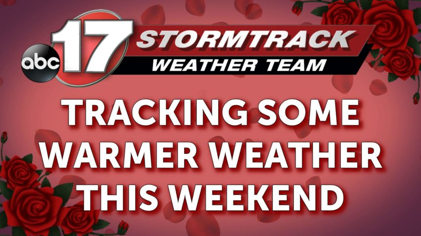 tracking warmer weather