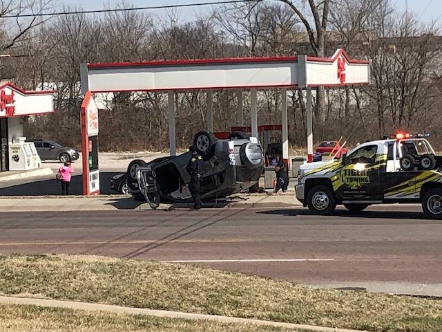 Rollover crash at Providence and Nebraska in Columbia