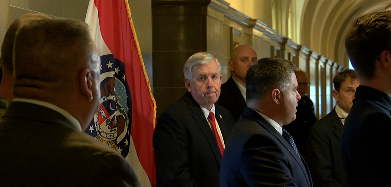 Gov. Mike Parson at news conference