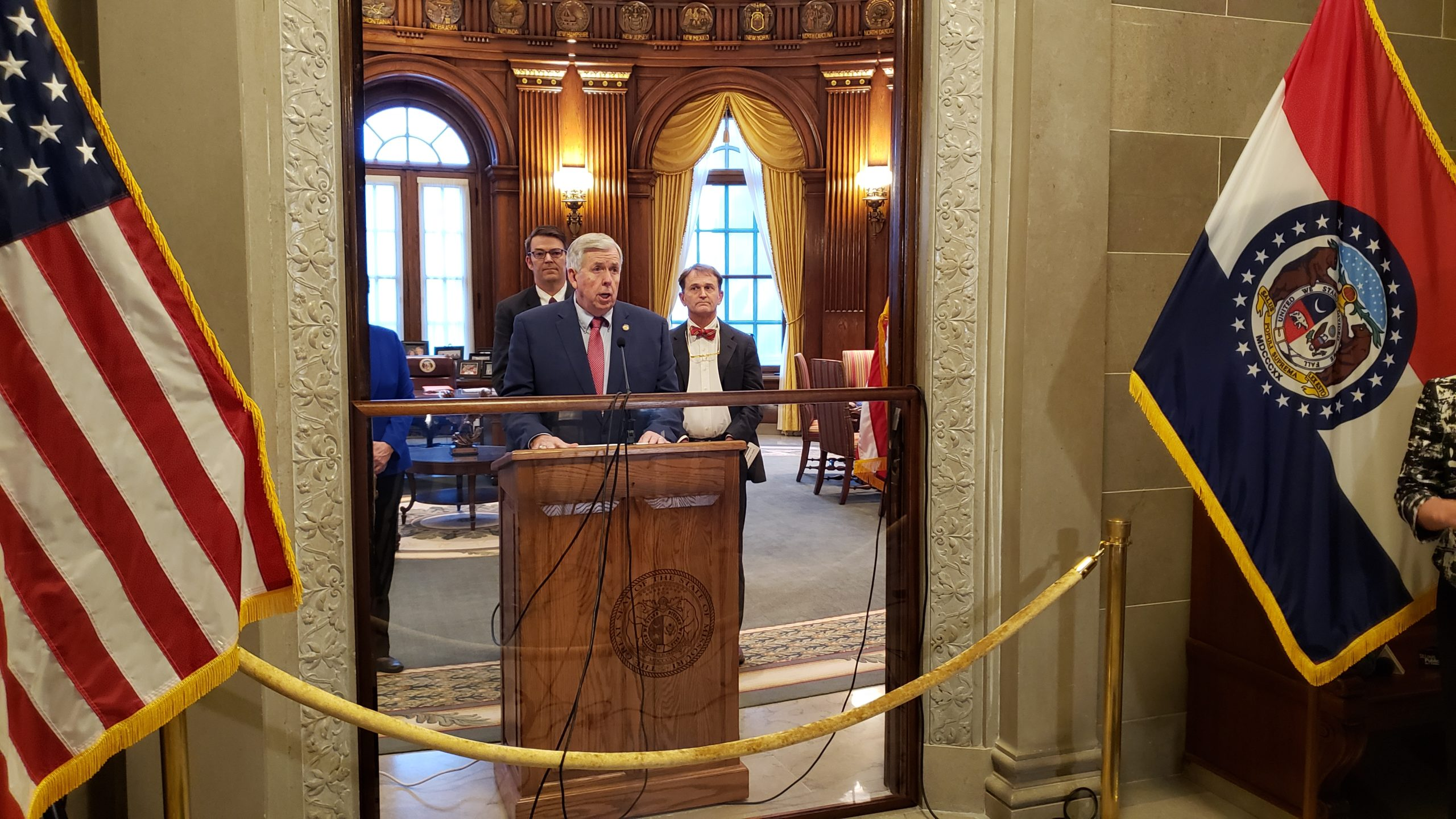 Gov. Mike Parson gives first daily briefing on COVID-19