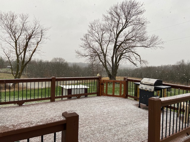 Snow falls in Rucker, Missouri, south of Clark.