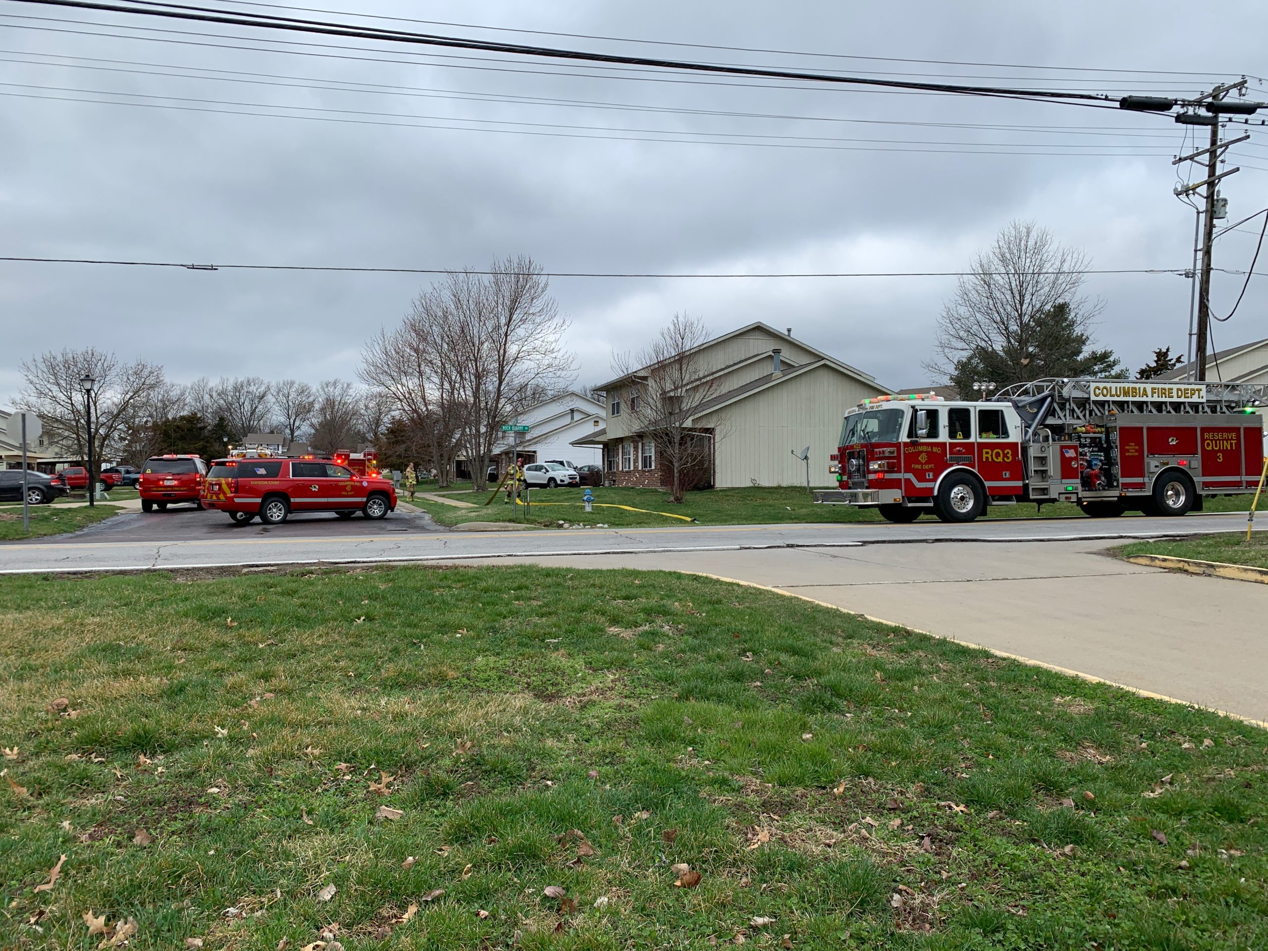 Firefighters respond to call about a fire on Telluride Ln.