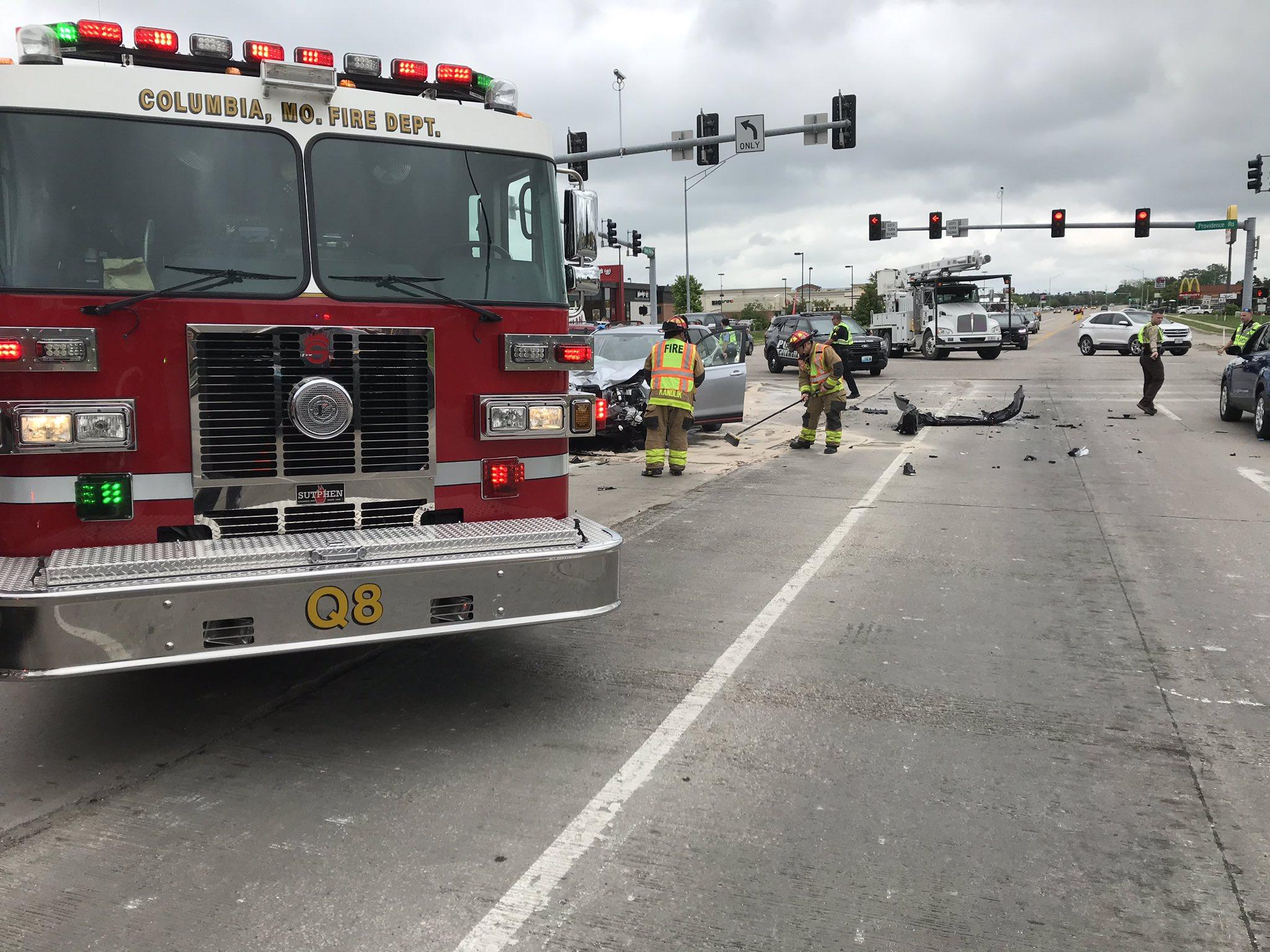 Crash on Providence Road