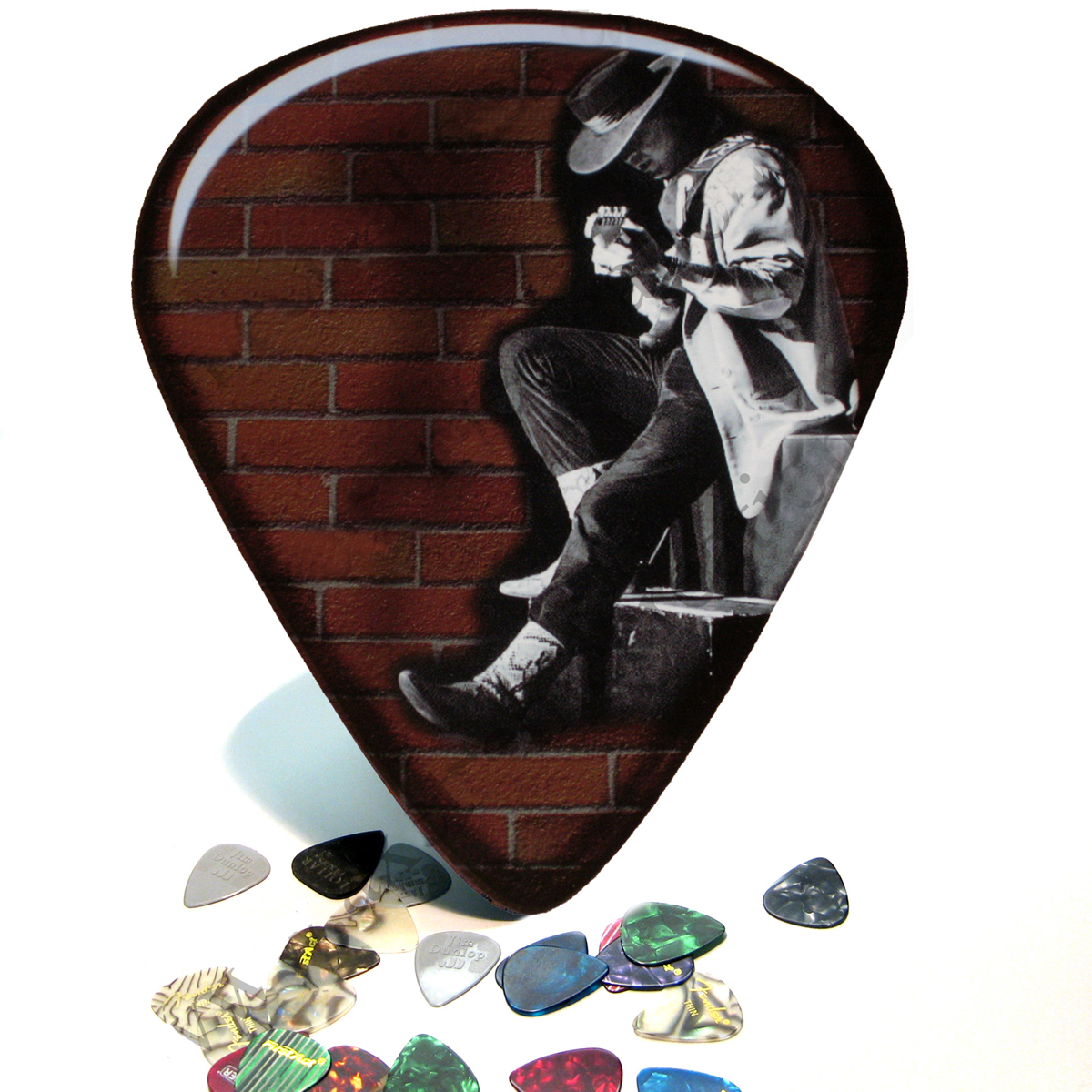 SRV Giant Guitar Pick Wall Art - 1043