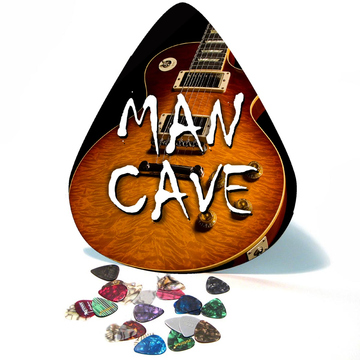 Vintage Les Paul Man Cave Giant Guitar Pick Wall Art  - 1099