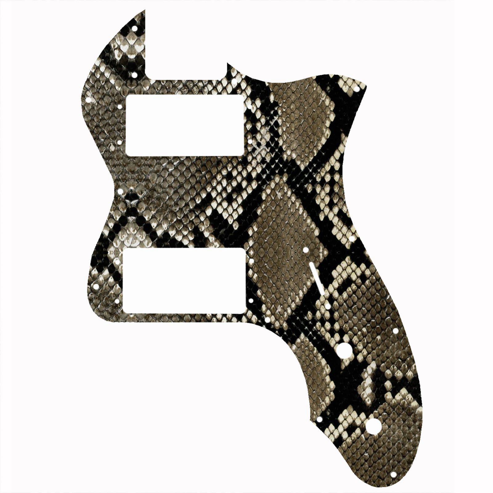 Telecaster 72 Thinline Snakeskin Snake Print Pickguard 2-ply - 106