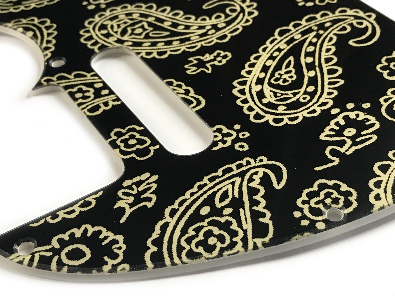 Telecaster Brad Paisley Black / Pale Yellow Paisley Pickguard 2-ply - SPECIAL ORDER