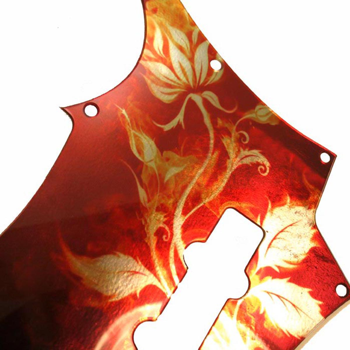 Carvin ® SB5000 5 String Bass Pickguard- 2-ply - IRIDESCENT  Flowers / Flames-  003i
