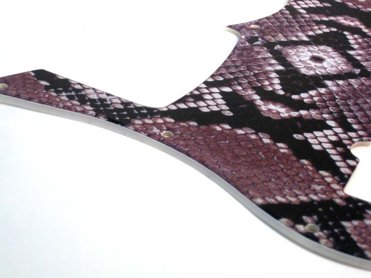 Carvin ® SB5000 5 String Bass Pickguard- 2-ply - Snake Skin -  002