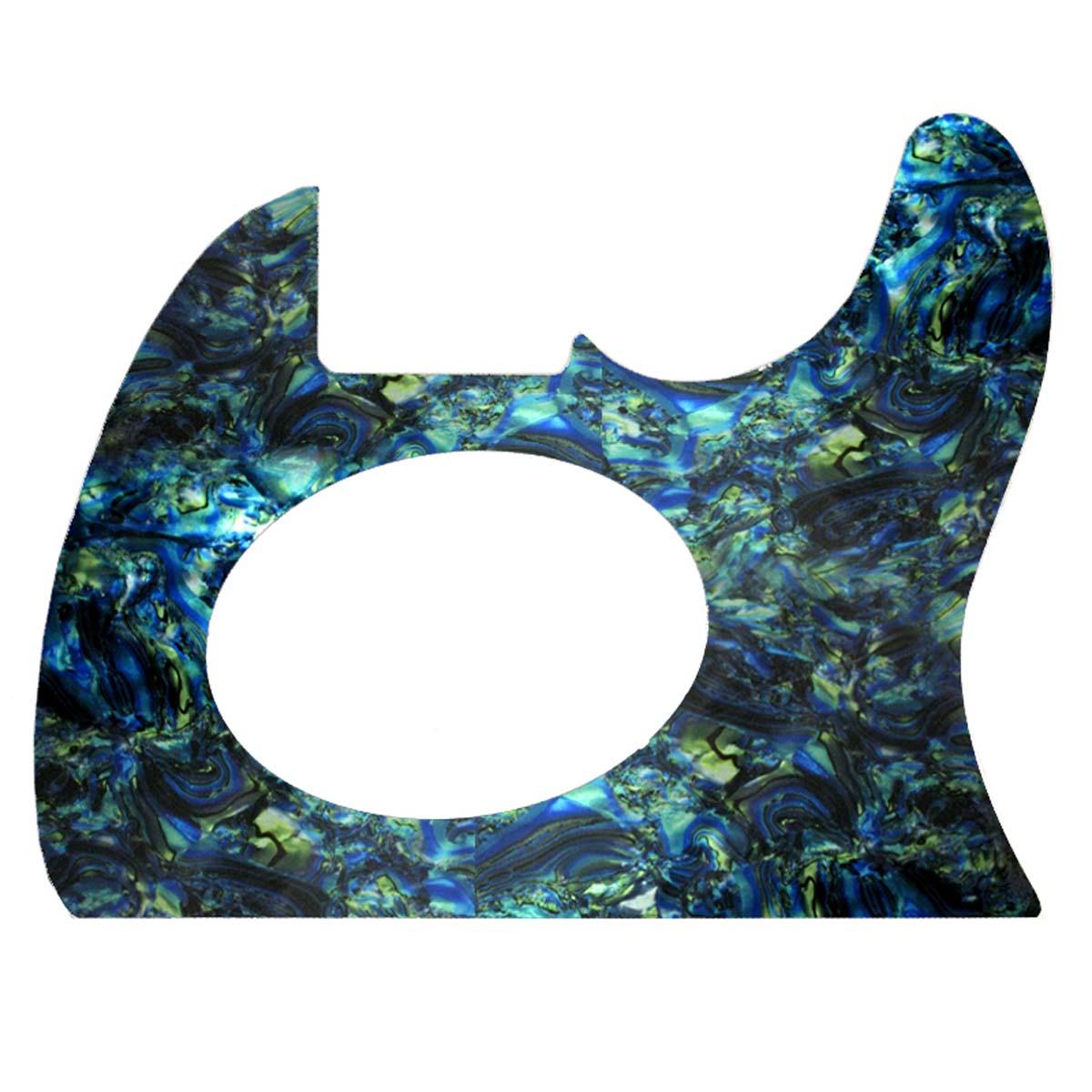 Telecoustic Style Acoustic Pickguard - Faux Blue Abalone - CUSTOM ORDER