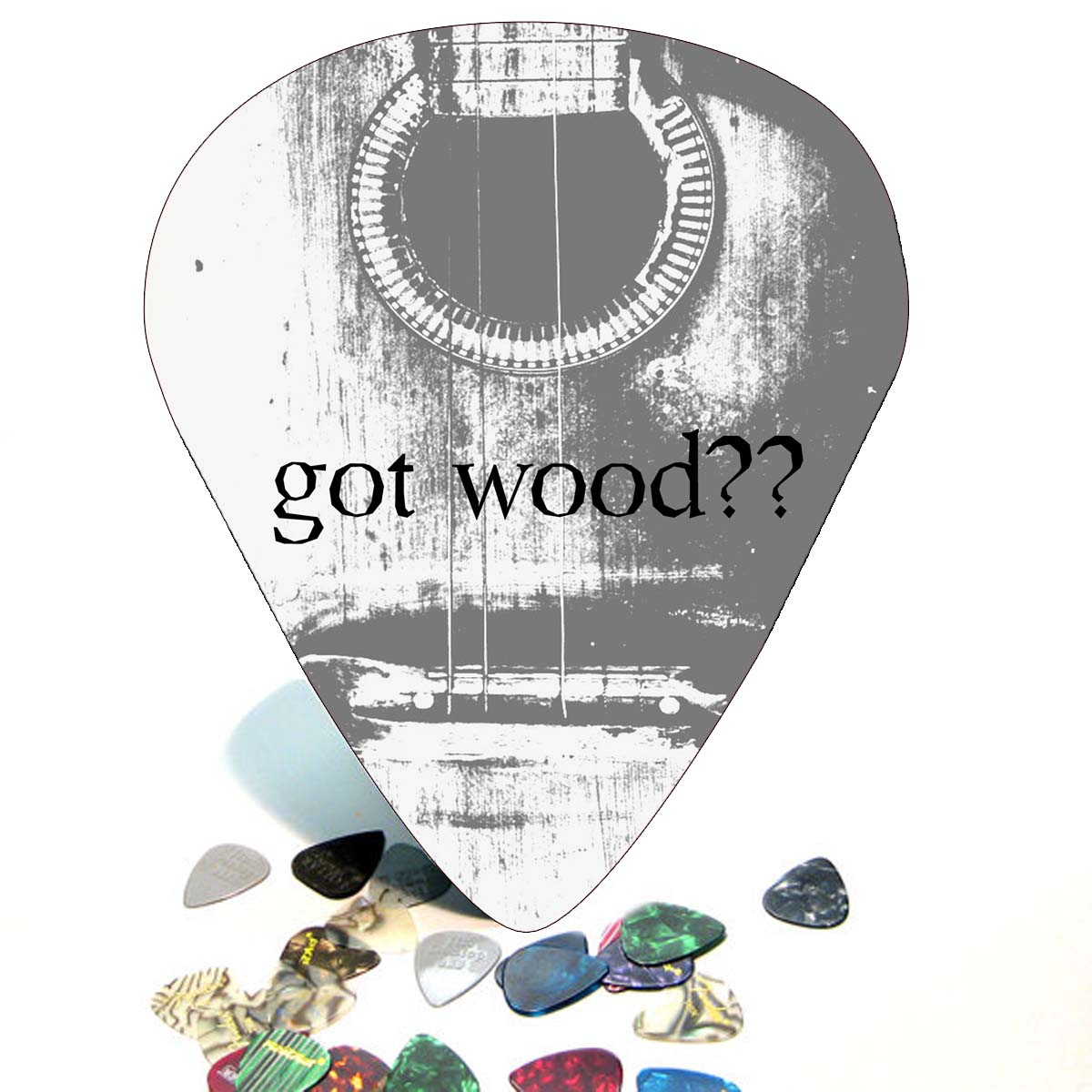 GOT WOOD Giant Guitar Pick Wall Art - 1006