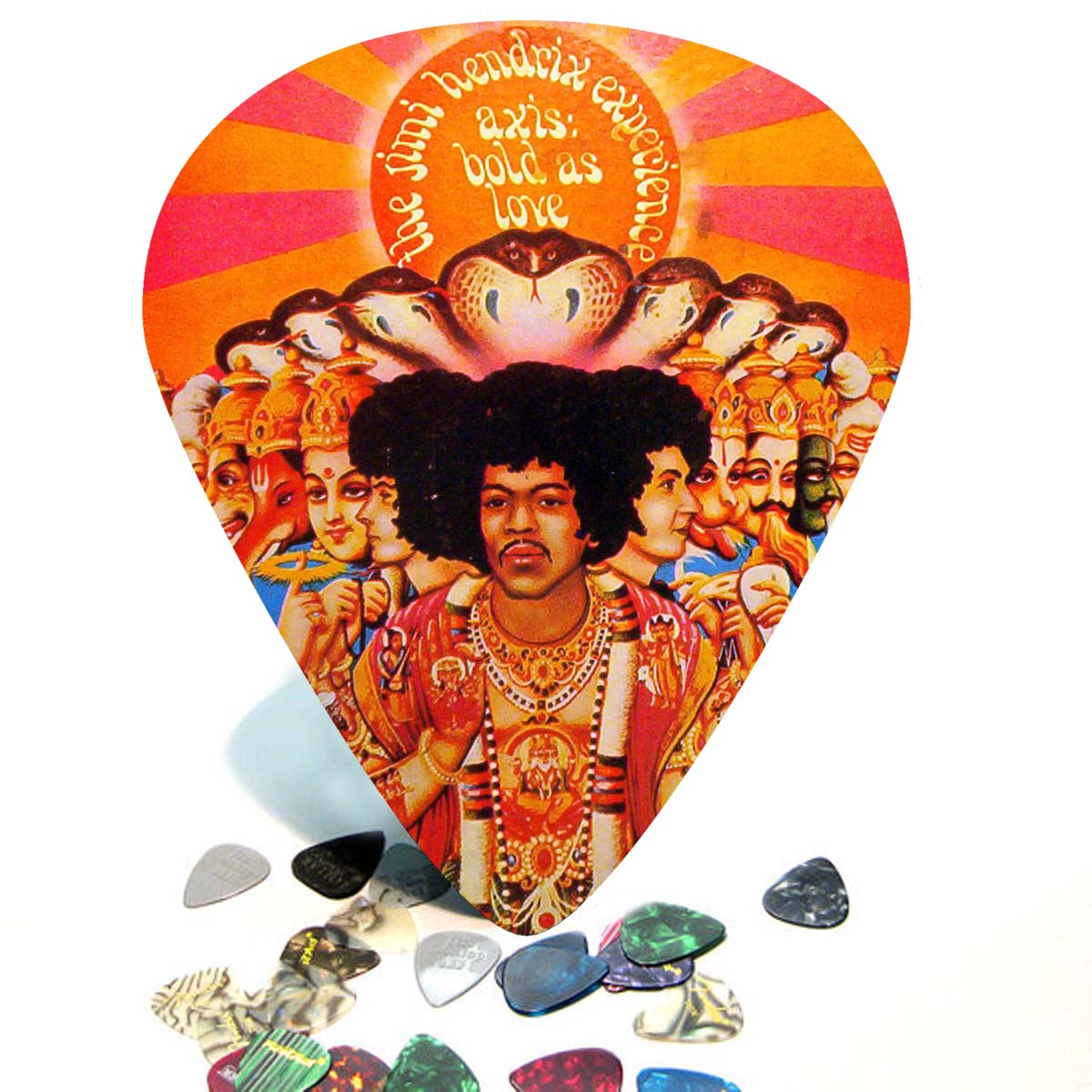 Hendrix Album Cover Giant Guitar Pick Wall Art - 1071