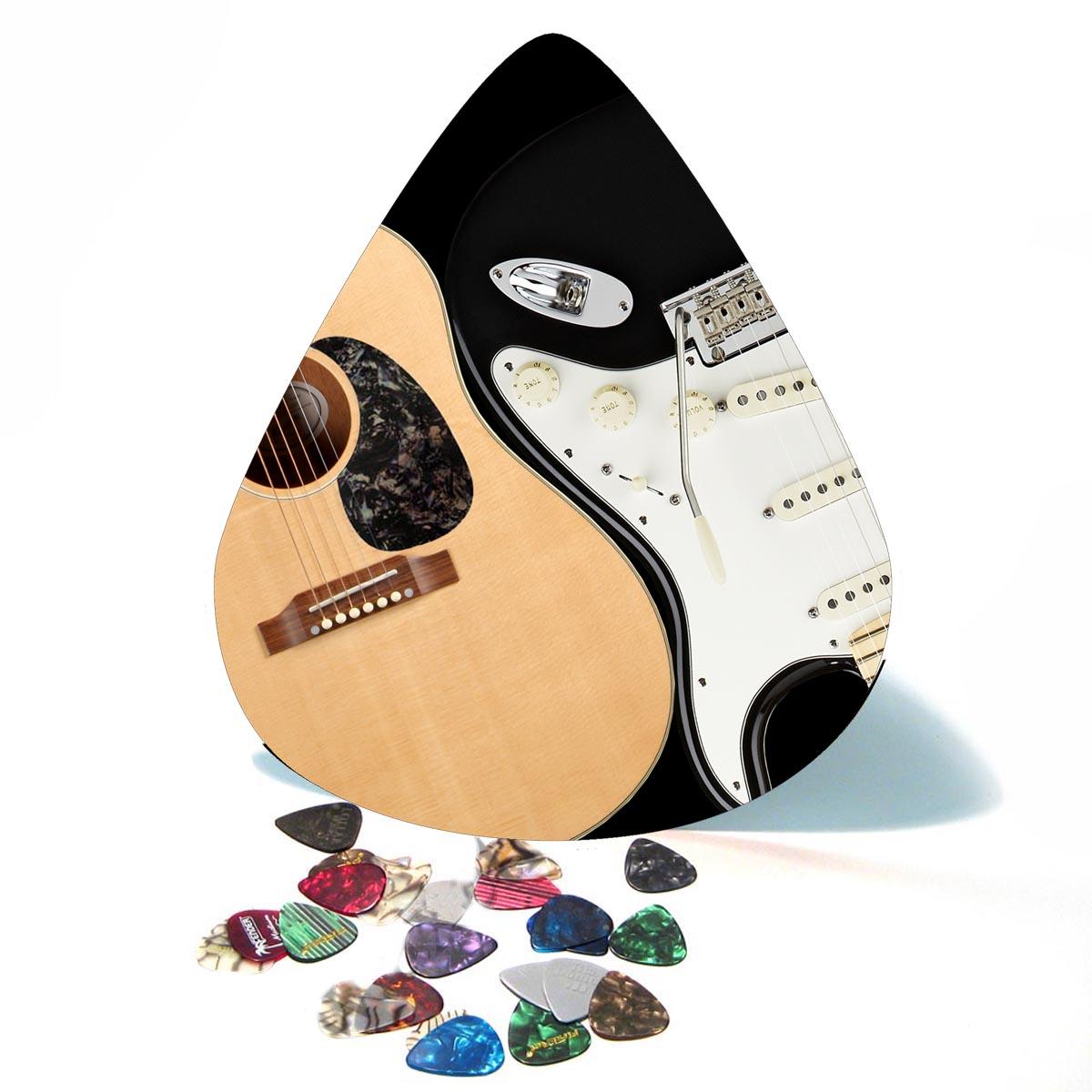 Yin - Yang Electric - Acoustic Guitar Giant Pick Wall Art  - 1098