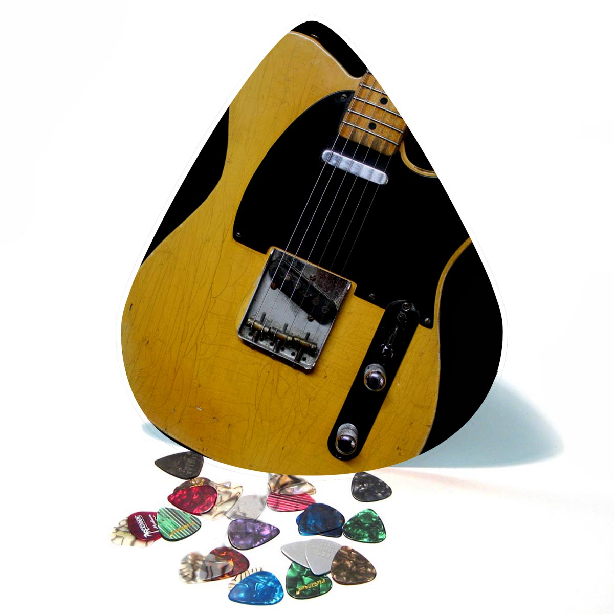 50s Black Guard Guitar Giant Pick Wall Art  - 1093