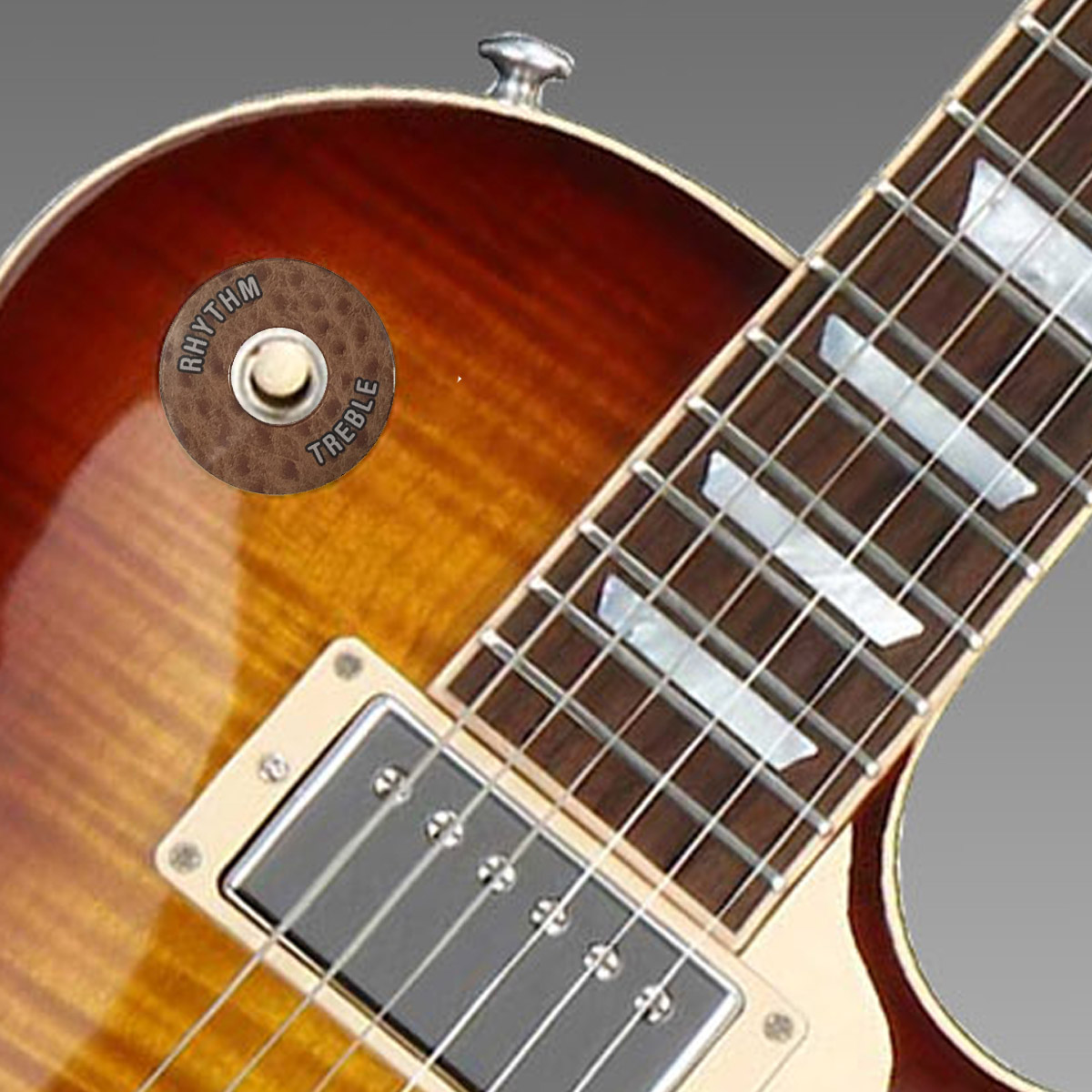 Gibson ®  Style Toggle Switch Trim Ring - Ostrich Look