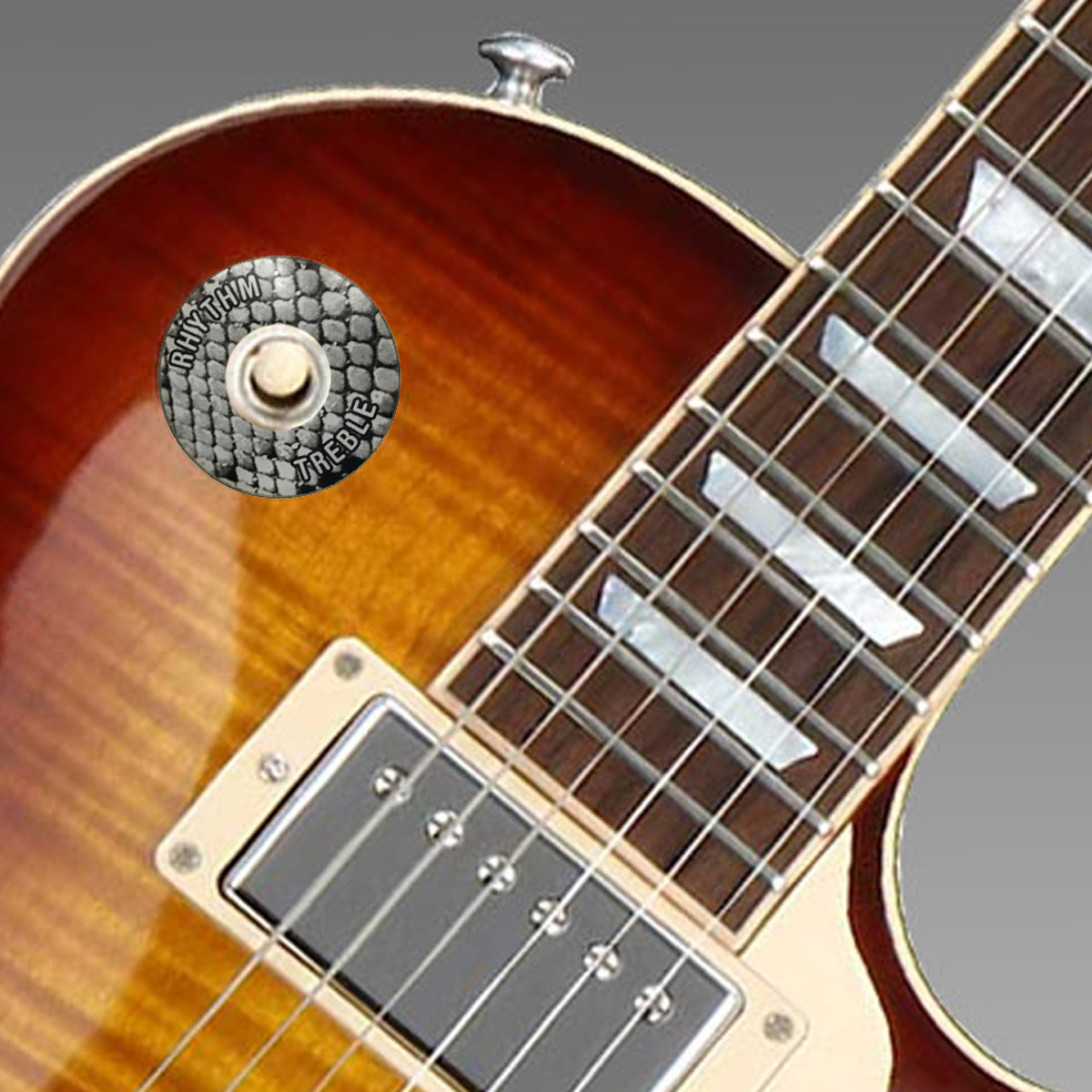 Gibson ®  Style Toggle Switch Trim Ring - White Snake skin