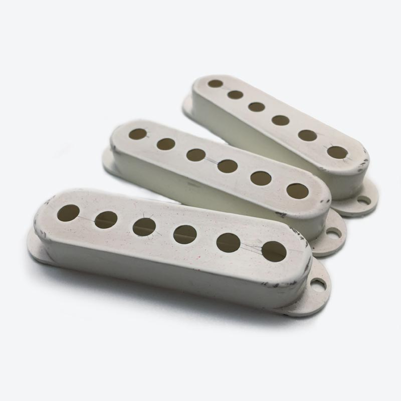 Relic Stratocaster Pickup Covers - WHITE