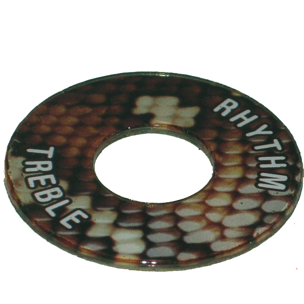 Gibson ®  Style Toggle Switch Trim Ring - Snakeskin Look