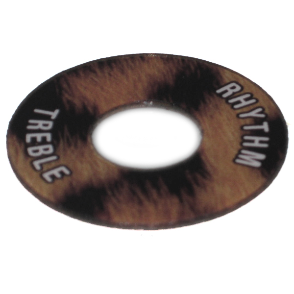 Gibson ®  Style Toggle Switch Trim Ring - Leopard Look