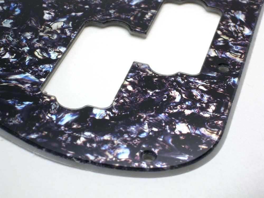Precision Bass Faux Black / Silver Abalone Pickguard - 2-ply