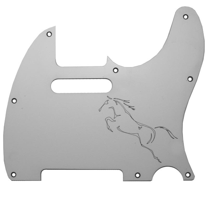 Telecaster Custom Laser Engraved Pickguard -  Running Horse