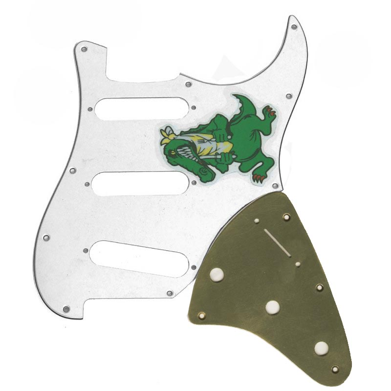 Jerry Garcia Alligator Stratocaster Replica Brass Pickguard