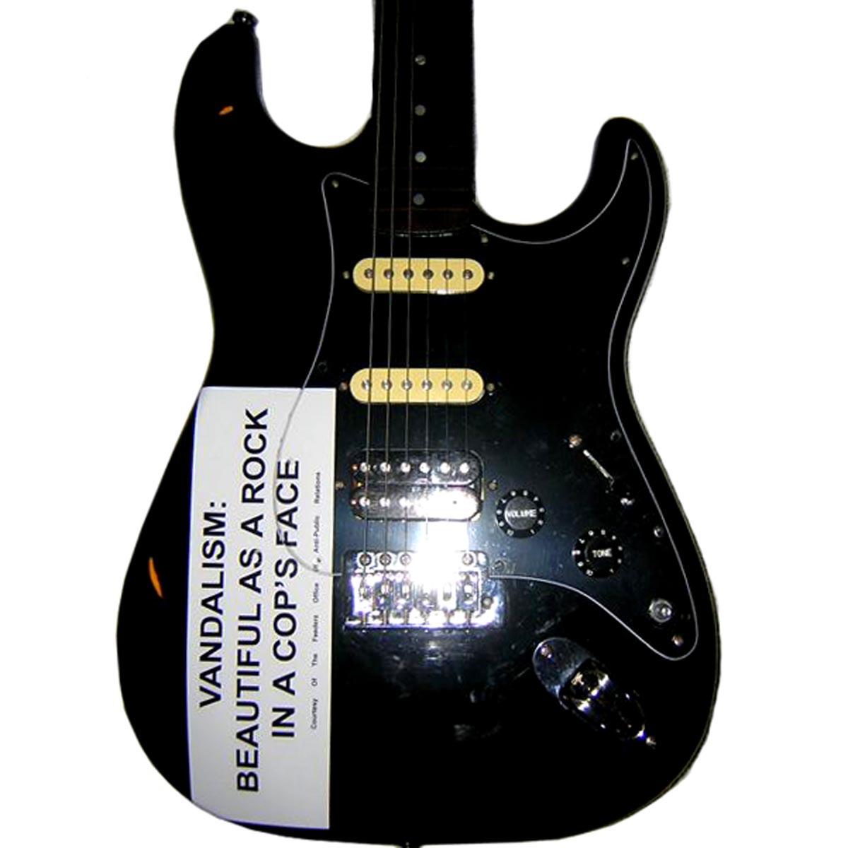 Kurt Cobain Replica Vandalism Strat Decal / Bumper Sticker