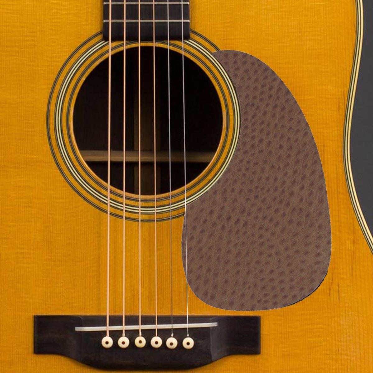 Acoustic Custom Pickguard - Ostrich Look - 002