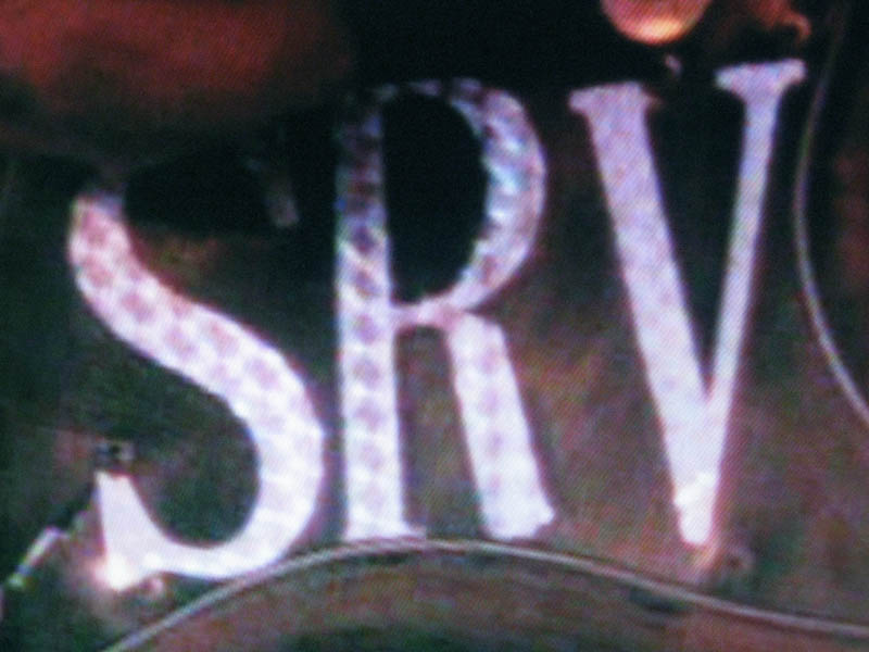 SRV Replica Holographic Letters / Stickers / Decals