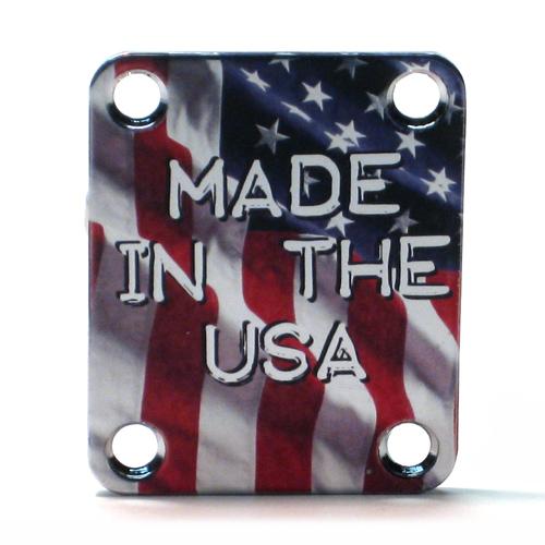 Custom Shop COLOR Neckplate FLAG -Fits Strat /Tele / Bass - 003