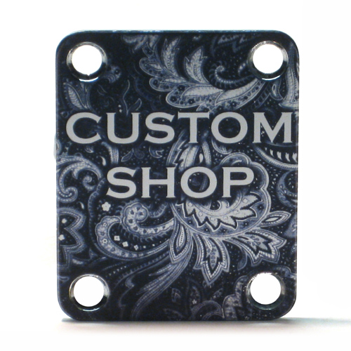 Custom Shop Neckplate CUSTOM SHOP PAISLEY -Fits Strat /Tele / Bass - 011