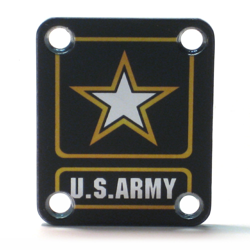 Custom Shop COLOR Neckplate ARMY -Fits Strat /Tele / Bass - 113