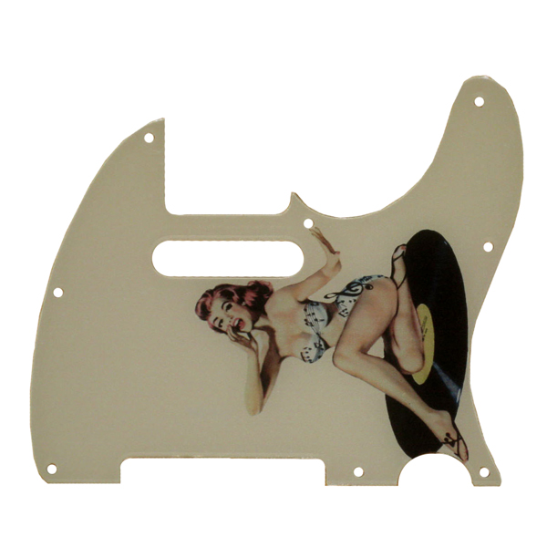 Telecaster Pinup Girl Pickguard -  2-ply -115